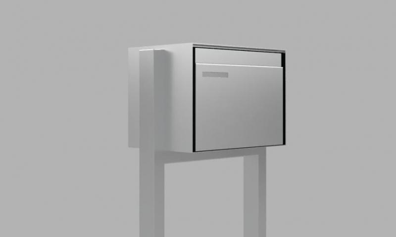 Einzelbriefkasten mit H-Stütze
